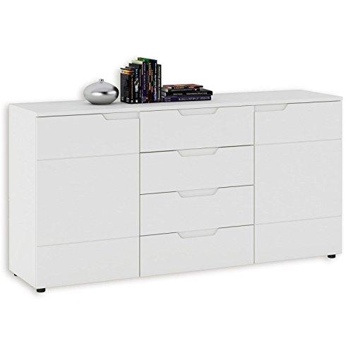 Preisvergleich Produktbild ROLLER Sideboard - weiß - 4 Schubkästen - 160 cm breit