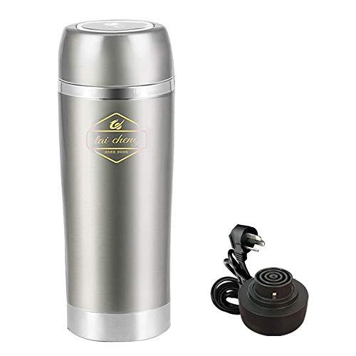 Yingpai-Travel Electric Cup Thermobecher, Elektrischer Wasserkocher, Edelstahl Sus304, 100-240v Universal, Mini Tragbar, Schnelle ErwäRmung, Effiziente Isolierung, 350ml, 100w,Mehrfarben Optional