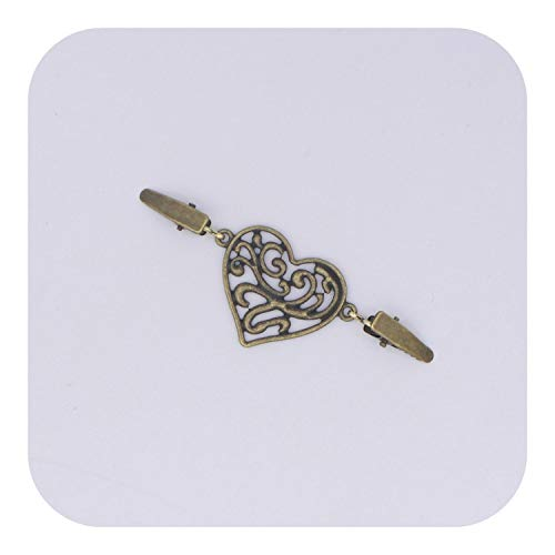 Zutty Gold Silver Color Duck Clips Flexible Beaded Pearl Pin Brooch Shawl Shirt Sweater Cardigan Collar Clip Buckles Clothing-D-1-