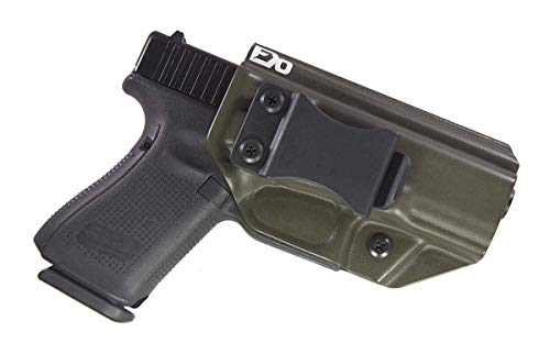 Fierce Defender IWB (Inside Waistband) Kydex Holster Compatible with Glock 19 23 32' Winter Warrior Series -Made in USA- GEN 5 Compatible! (OD Green)