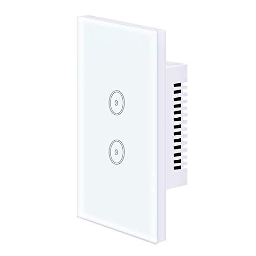 UseeLink Interruptor ZigBee Smart Light de 2 velocidades, compatible con Alexa/Google Home, se utiliza con TuYa ZigBee Hub, mando a distancia, función de temporizador, control por voz (1 paquete)