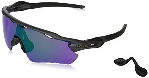 Oakley Men's OO9208 Radar EV Path Shield Sunglasses, Steel/Prizm Road Jade, 38 mm