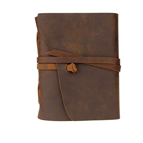 POIMUIT 50 Pieces/Lot Vintage Leather Notebook 5x7 Inches Journal Environmetal Paper Genuine Notebook Daily Notepad Sketchbook