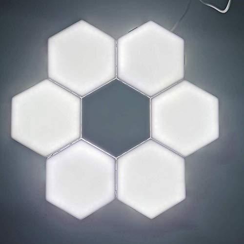 3000k 8 Piezas Lámpara De Hexágono Cuántico Iluminación Modular LED Táctil Lámparas Luz De Noche Lámpara De Pared De Bricolaje