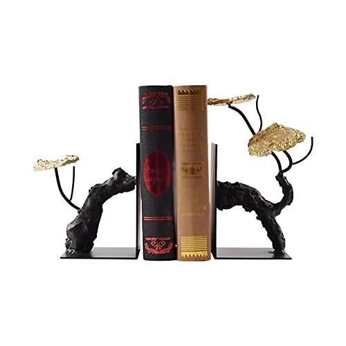 organizador de escritorio Decoración de loto de estilo chino Sookends Bookendshelf Iron Anti-Moving Wearlend para acomodar libros pesados Reservar Termina Termina Oficina Adornos de sala de estar so