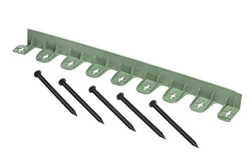 acerto 30374 Elastische Rasenkante aus Kunststoff 80 cm - Universelle Beetbegrenzung Beeteinfassung für den Garten (Grün)