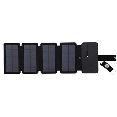 Solar powerbank solar oplader met 5 zonnepanelen draagbare externe accu, oplader op zonne-energie, voor mobiele telefoon, tablets, rugzak, camping, reizen