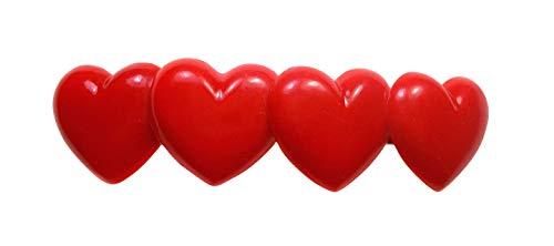 Corazón Pasador de Pelo-Corazones pelo Clip para San Valentín, Amor Heart Pinza de pelo, regalo para enamorados, niña, Love pelo joyas y para Carnaval y