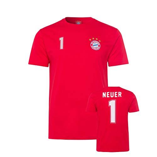 Bayern München kompatibel T-Shirt M. Neuer + Sticker München Forever, Tshirt, T-Shirt (M)