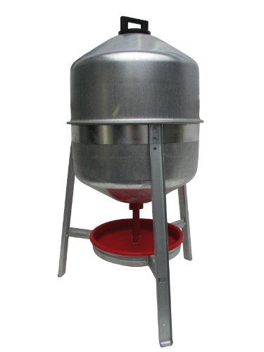 Syphontränke für Geflügel aus verzinktem Metall (30 Liter)