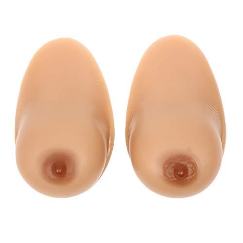 Fxwj 1 Paar Silikonbrüste Brustprothese,Selbstklebende Falsche Brüste Brustformen für Prothesen-Mastektomie, Crossdresser, Cosplay,A,M(600g/pair) Bcup