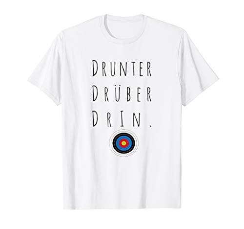 Lustiges Bogenschießen Tshirt drüber drunter drin T-Shirt