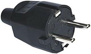 Silver Electronics 9230 Clavija Macho, Negro