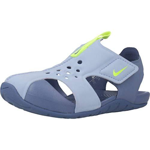 Nike Unisex-Kinder Sunray Protect 2 (td) Dusch-& Badeschuhe, Mehrfarbig (Aluminum/Volt/Indigo Storm 000), 25 EU