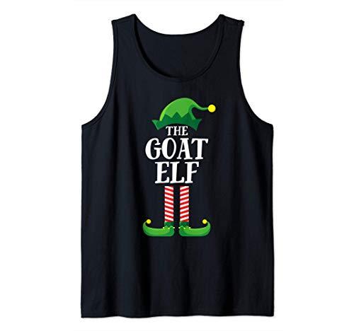 Goat Elf Matching Family Group Christmas Party Pajama Camiseta sin Mangas