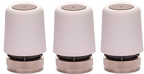 EAZY Systems | Stellantrieb 230V AC | für Fußbodenheizung | M30x1,5 | (NC) stromlos geschlossen | passend für nahezu jeden Heizkreisverteiler Homeatic IP, Heimeier, u.v.m.| 3 Stück im Sparpack