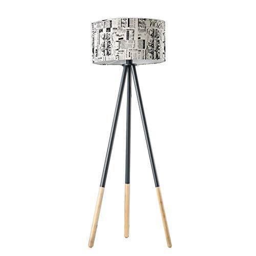 Lámpara de pie moderna Lámpara de pie triangular, sala de estar dormitorio, simple de madera maciza vertical LED Lámpara Ahorro de Energía