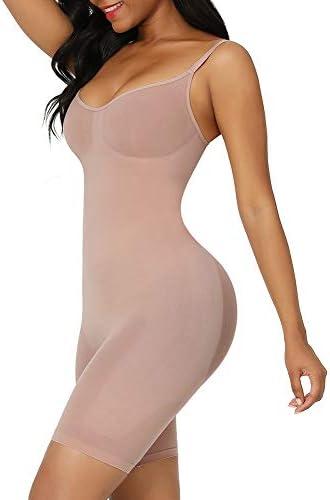 FeelinGirl Seamless Bodysuit Shapewear Butt Lifter High Waist Body Shaper Under Dress Full Body product image