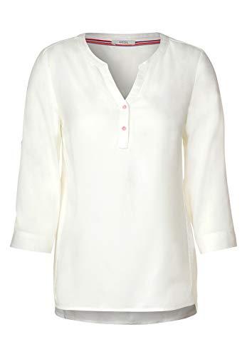 Cecil Damen 342182 Uni Bluse, Pure Off White, XX-Large