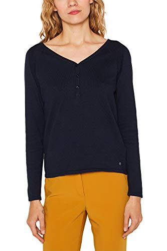 ESPRIT Damen 109Ee1I016 Pullover, Blau (Navy 400), Medium (Herstellergröße: M)