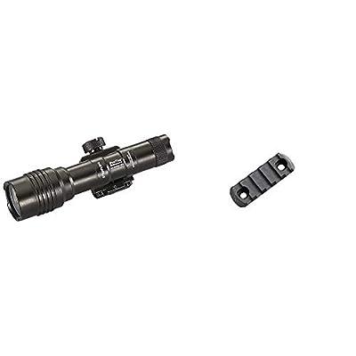 Streamlight 88059 Pro Tac Rail Mount 2 625 Lumen Professional Tactical Flashlight with High/Low/Strobe w/2x CR123A Batteries - 625 Lumens, Black & Magpul M-LOK Polymer Rail, 5 Slots, One Size