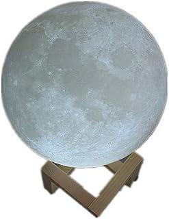 テーブルランプベッドルームテーブルランプベッドサイドテーブルランプ3Dプリントムーンライトバレンタインデークリエイティブ実用的な最高級の雰囲気リモコン寮のテーブルランプ発光睡眠月光