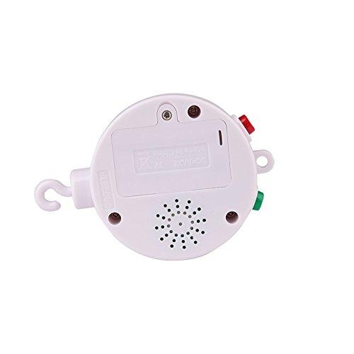 WLGREATSP Baby Krippe Glocke, 35 Song Baby Mobile Krippe Bett Glocke Elektrische Autorotation Spieluhr Spielzeug Geschenk