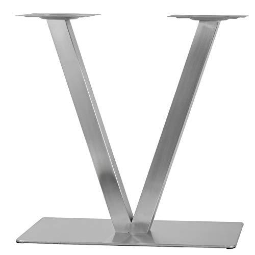 Fetcoi 70CM Edelstahl V-Form Tischgestell Modell Tischfuß Tischbein Bistrotisch Tischuntergestell Untergestell Bankkufen Couchtischkufen Hairpin Legs DIY