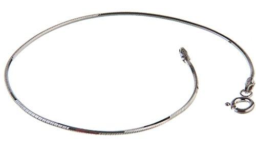 Schlangenkette Armband, achtkant, 1,5mm Breite - massiv 925 Silber, Länge wählbar 16-25cm