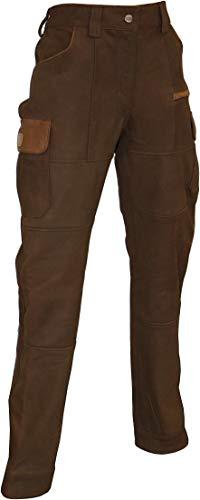 La Chasse® Damen Cargo-Lederhose mit 2 Beintaschen Jagdlederhose Büffelleder Rindslederhose Cargohose