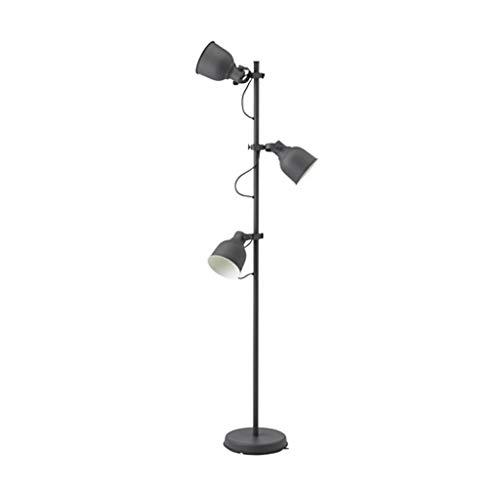 Dzwyc Lámpara de pie Lámparas de pie 3 Pantallas de Metal Salón Dormitorio lámpara de cabecera del Estilo Industrial de la lámpara Arte Moderno Escritorio LED Blanco Lámpara de pie Lámparas de Mesa