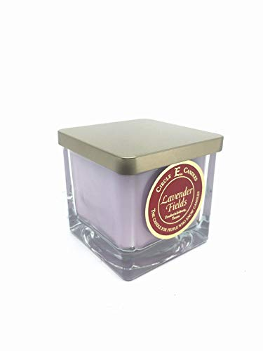 Circle E Lavender Fields Scented Jar Candle | Size 8oz | 40 Hour Burn Time | 1 Wick | Wax Color Lavender | Glass Jar | Made in USA