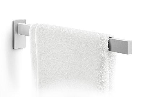 ZACK Linea Handtuchhalter aus Edelstahl, matt, 4 x 8 x 42 cm, Silber-Metallic