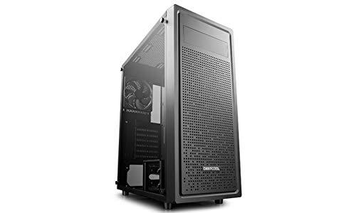 DeepCool E-Shield Case Middle Tower Computer PC Desktop Gaming 0.6mm SPCC 3*USB3.0 2.0 con Ventola da 120 mm 1*bay 5.25   Pannello Laterale in Vetro Temperato (AxPxL: 477x438x210 mm)