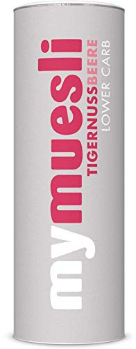 mymuesli Lower Carb Müsli – Tigernuss-Beere Bio-Müsli – 1x 575 g – Low Carb Fitness Müsli – Ohne Zuckerzusatz – 100% Bio-Zutaten