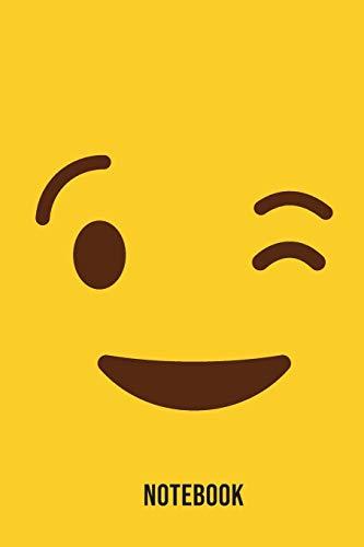 Notebook: Wink Emoji Emoticons Notebook,: Emoticons Notebook For Kids, social media emoticons Journal, Emoticon Face Themed Birthday, Emoji Journal, ... Emoji Stuff, 120 Pages, 6x9, Matte Cover.