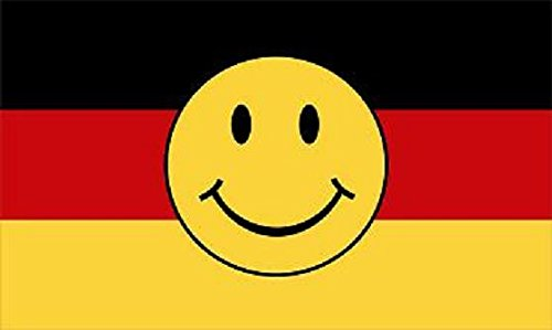 U24 Flagge Fahne Deutschland Smily Smiley 90 x 150 cm