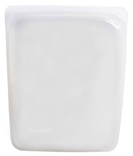 Stasher - Recipiente de silicona reutilizable de grado alimenticio de calidad máxima, transparente, Half Gallon/Large