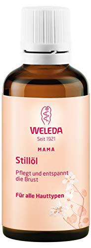 WELEDA voedingsolie, natuurlijke cosmetica borstolie tegen spanning tijdens de zwangerschap en tijdens het borstvoeding ter bevordering van de doorbloeding van de huid (1 x 50 ml)