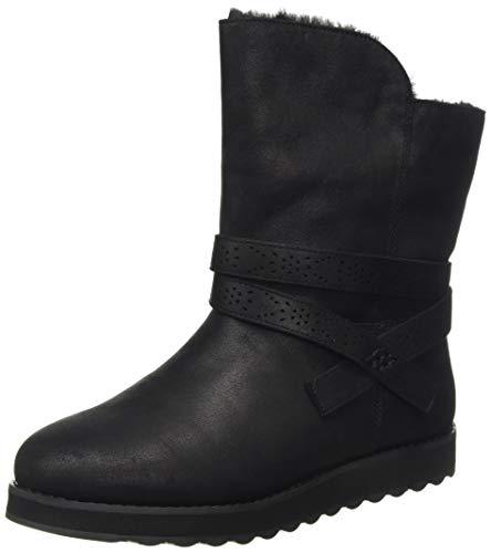 Skechers Damen Keepsakes 2.0 Halblange Stiefel, Schwarzes Mikroleder, 35 EU