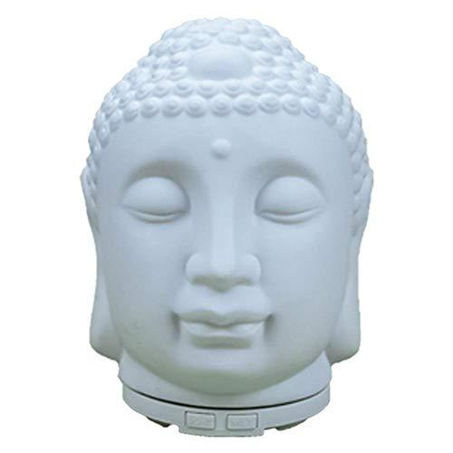 Qaoping USB Essential Oil Difusor Cerámica Aromaterapia Humidificador Buda Porcelana Colorida Noche Lámpara Humidificador