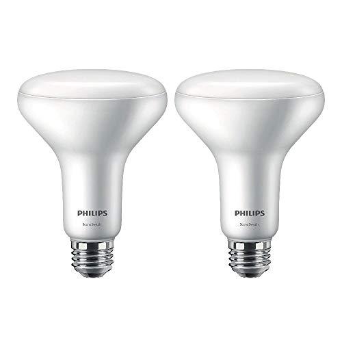 Philips LED BR30 SceneSwitch Color Change Light Bulb: Daylight/Soft White/Warm Glow (65-Watt Equivalent), E26 Base, 4-Pack