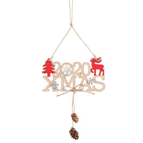 10 Piezas Calados Cartas Navidad Armario Colgantes para Decoración de Fiesta y Manualidades