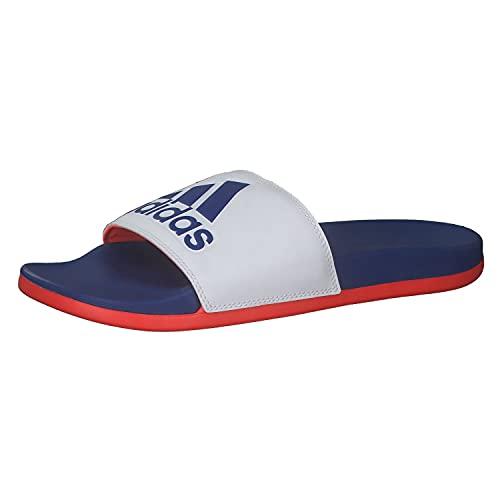 adidas Adilette Comfort, Chanclas Hombre, FTWBLA/AZUREA/Rojsol, 48 2/3 EU