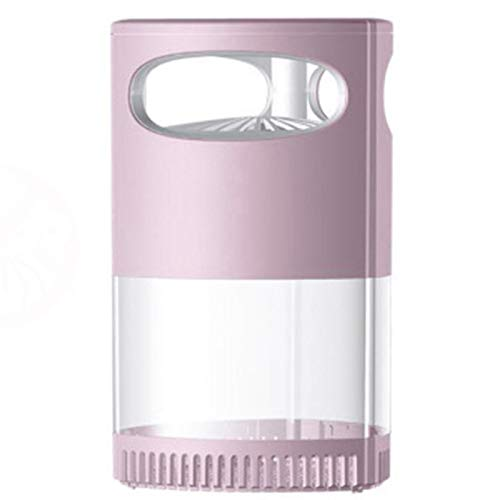 NWYJR Lámpara de asesino de mosquitos, lámpara eléctrica de trampas de insectos, luz UV para asesino de insectos, trampa de insectos para interiores con USB (color: rosa)