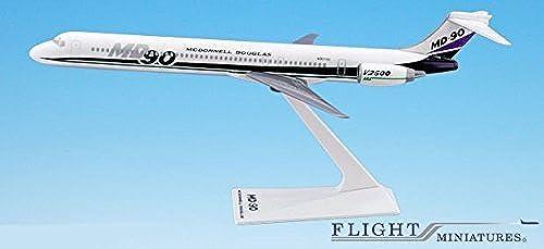 McDonnell Douglas Demo MD-90 Airplane Miniature Model Plastic Snap-Fit 1 200 Part  AMD-09000H-001 by Flight Miniatures