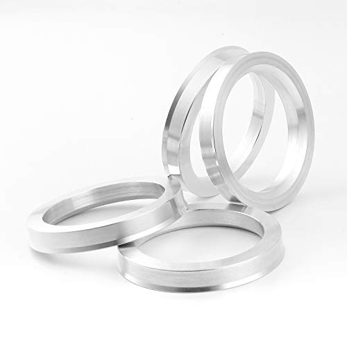 MOCARD Crazy stone Car Accessories Aluminum Alloy Wheel Hub Ring 73.1 to 57.1 Wheel Hub Ring OD = 73.1mm ID = 57.1mm Wheel Center Ring 73.1mm to 57.1mm, Pack of 4pcs (73.1 to 57.1)