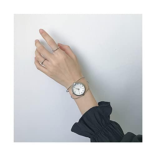Reloj De Pulsera, Relojes De Mujer Esfera Grande Redonda con Estilo Reloj Simple Correa Fina Hueca 2021 Nuevo Reloj Cronógrafo Impermeable De Cuarzo Analógico, De Decoración De Muñeca