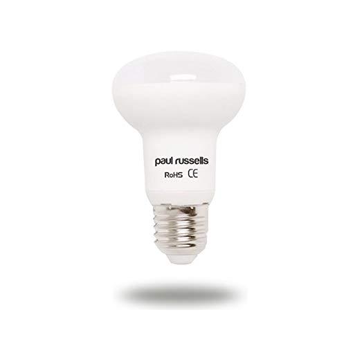 Paquete de 3 bombillas LED reflectoras de 7 W E27 ES rosca Edison grande Paul Russells brillante 7 W = 60 W foco R63 foco 120 haz lámpara 4000 K blanco frío 60 W incandescente de repuesto