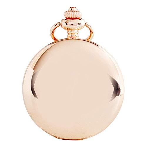 Reloj Bolsillo clásico Art Creative Retro Smooth Quartz Fob Relojes Bolsillo Colgante con Cadena Custom Boy Girl Gift